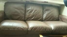 FREE 3 Piece brown faux leather sofa