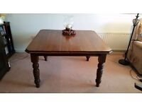 ANTIQUE OAK DINING TABLE - DATED 1880'S - SEATS 4 - 10 - IDEAL FOR FAMILY OCCASIONS/XMAS £450 ONO