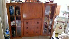 vintage bureau with display unit