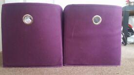 Purple storage boxes