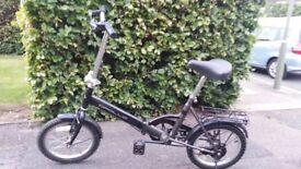 Apollo black folding bike/bicycle