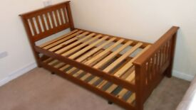Single 3ft bed frame with under guest bed. Bought from Housing Units.