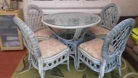 OPEN TO OFFERS Lovely conservatory furniture set including two tables