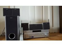 Sony full surround sound system inc sub woofer exc condition