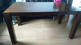Solid wood dining table 150X90cm