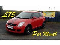 2009 SUZUKI SWIFT 1.3 petrol (£75 p/month)