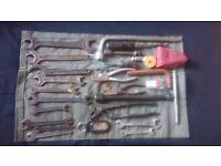 Vintage mercedes tool kit tool bag bordwerkzeug Adenauer Ponton 190 sl w120 w121 for best offer