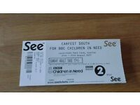 Three available - Carfest South (Hampshire) day tickets - Sunday 27 August 2017