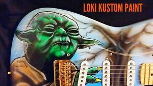The guitar specialist/ Loki kustom paint