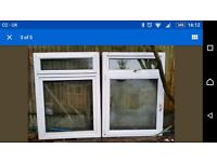 "2 windows 1 with misted panel 46"" wide 64"" high 3"" deep listed on other sites."