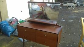 mid century chest of drawers with mirror - free local delivery