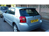 toyota corolla 2002 1.6 vvti for parts or for repair, damaged engine