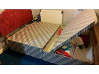 Double bed with one side storage