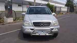 2001 Mercedes Benz ML 270 CDi Northcote Darebin Area Preview