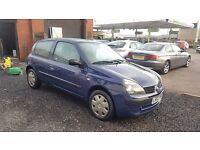 """BARGAIN"" Renault Clio Authentique 3 Door (2003) - 1.2 - Low mileage - 1 year MOT!"