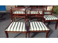 2 Regency dining chairs,Mahogany,carved,stable,clean cushion,no carver,no tables