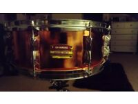 Yamaha Stage Custom Snare Drum1 4 x 6 (Copper Wrap, Free P P)
