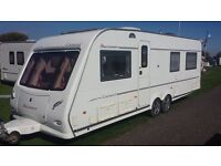 TWIN AXLE 2005 BUCCANEER CARAVEL FIXED DOUBLE BED 4 BERTH VAN. AIR CONDITIONING LOVELY CONDITION.