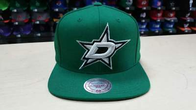 Mitchell & Ness NHL Dallas Stars Team Logo Green White Retro Snapback Cap Hat Dallas Stars Hat