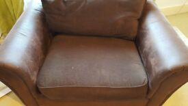 Comfy Arm Chair - Brown sofa chair