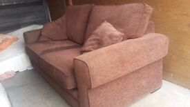 brown double sofa bed in excellent condition