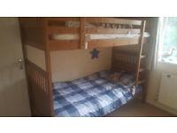Sturdy, solid pine Ikea bunkbeds