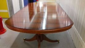 Regency dining table,Yew wood,165-220CM,extendable,VGC,sit up to 10