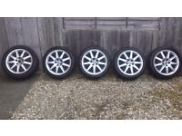 ORIGINAL AUDI WHEELS IN GOOD CONDITION.