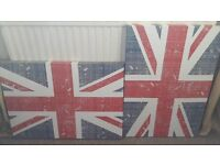 Two Union Jack canvas from Next teenage bedroom wall art accessory