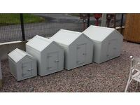 Dog kennels and Hen arks pvc covered. Galvanised dog pens runs great quaility wooden rabbit hutches
