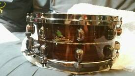 "Chris adler snare drum, Gibraltar drum rack, tama star classic exotix 14"" snare"
