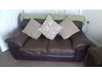 Brown leather couches for sale (sofa bed) pick up only