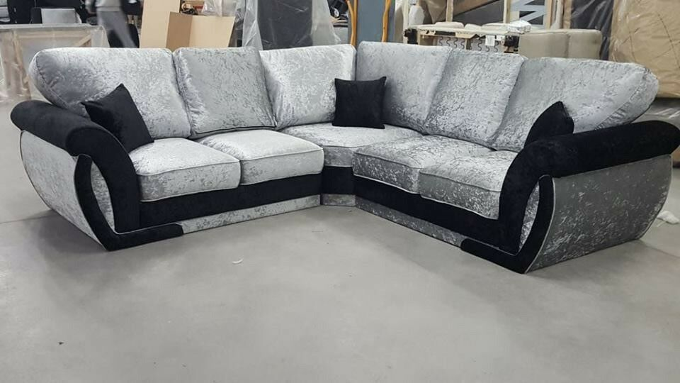 New Velvet Corner Sofa Quick Delivery