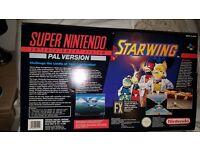 Rare Super Nintendo Snes - collectors console Starwing