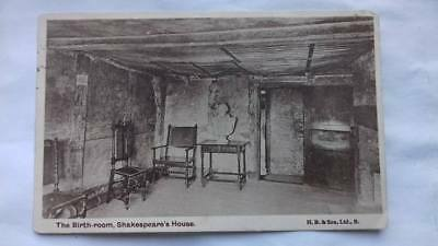 Antique postcard,Shakespeare,Birmingham,1900s,Nottingham,posted