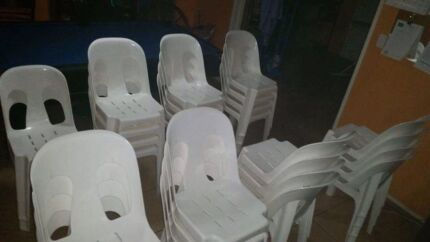 White chairs for hire $1-25 for 48hrs