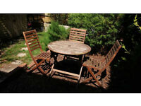 Great wooden outdoor furniture set
