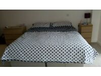 Cotton King size Duvet Set, spare room set, used only once, now surplus to needs