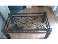 FREE glass and black iron coffee table PICK UP ONLY east kilbride