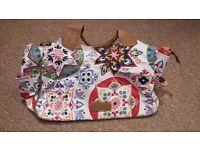 Animal - white and multicoloured pattern handbag