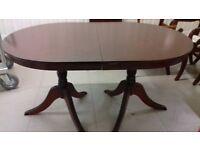 Regency dining table, mahogany, 140-185CM, extendable, scratches, leg broken, no chair
