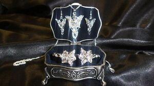LOTR  Arwen Elven Evenstar Jewelry Set & Casket With Free Bracelet  *UK Seller*