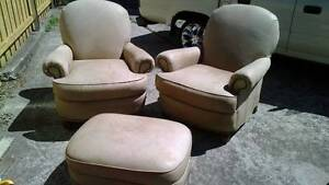 white pure leather chairs Derwent Park Glenorchy Area Preview