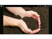 Topsoil in bags