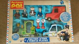 Postman Pat set of vehicles and figures-missing Jess