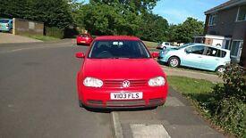 Volkswagen Golf 2.3 V5 (150 bhp) 5 door RED 1999 Manual