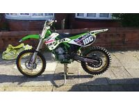 2002 kawasaki kx 250cc 2 stroke MAY PX 125 AND CASH ££ OR A 250F 450F 4 STROKE £1500 BUYS IT.