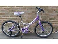 Purple / Silver Girls Probike Melody bike age 6 - 9yrs good condition