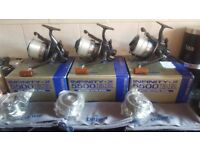 Daiwa Infinity X 5500 BR's Boxed with spare spools and Bags
