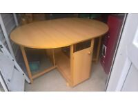 Butterfly Wood Effect Folding Table & 4 Solid Beech Chairs